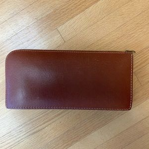 COOPER WEEKS vintage leather pouch - pencil case?